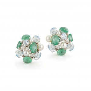 Seaman Schepps Bubble Earrings in Emerald