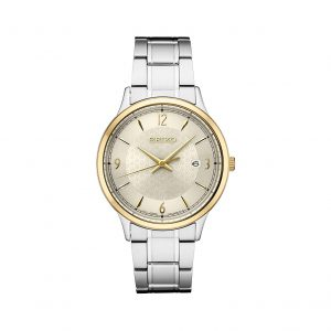 Front view of Seiko 40.6mm Essentials Stainless Steel Watch