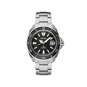 Front face view of Seiko 44mm Stainless Steel Prospex Collection Watch.