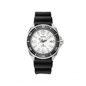 Front view of Seiko 43.8mm Black Prospex Collection Watch