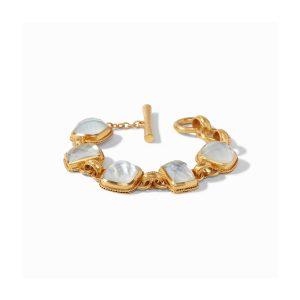 Julie Vos Savoy Demi Bracelet in Iridescent Clear Crystal
