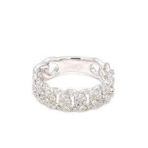 Dimond Curb Link Ring