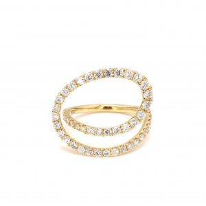 Open Swirl Diamond Ring