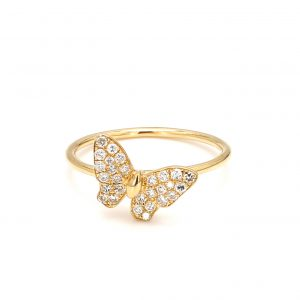 Butterfly Ring with Diamonds