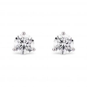 Lightbox Lab-Grown Round Diamond Stud Earrings