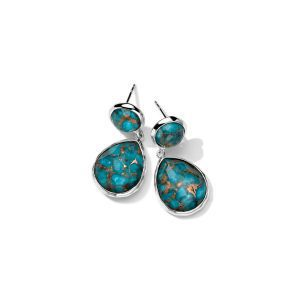 Ippolita Rock Candy 2-Stone Earrings in Bronze Turquoise