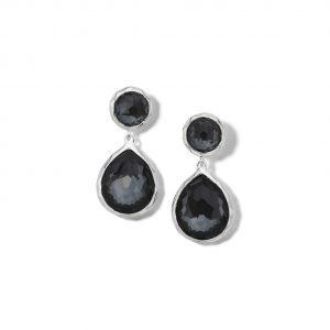Ippolita Rock Candy 2-Stone Earrings in Hematite