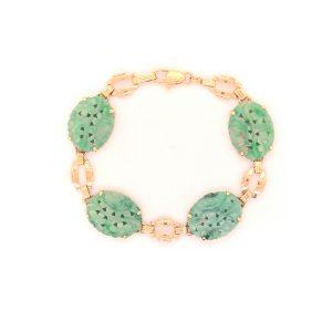 Bailey's Estate Retro Jade and Gold Bracelet
