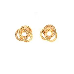 Bailey's Estate Vintage Trinity Interlocking Circle Earrings