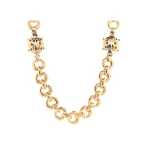 Baileys Estate Italian Ladybug Gold Link Necklace