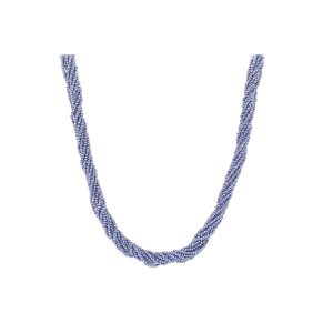 Bailey's Estate Mid Century Dyed Blue Multi-Strand Seed Pearl Necklace