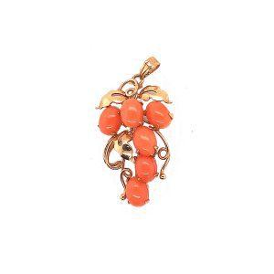 Bailey's Estate Vintage Coral Grapes Bunch Pendant