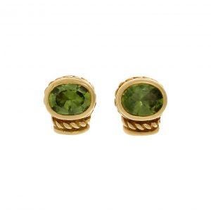 Bailey's Estate Vintage Judith Ripka Peridot Stud Earring