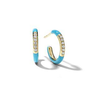 Ippolita Carnevale Stardust Huggie Hoop Earrings in Turquoise
