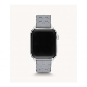 Michele Slate and Stainless Steel Silicone Apple Watch Bracelet