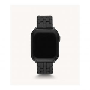 Michele Black Silicone Bracelet Band for Apple Watch