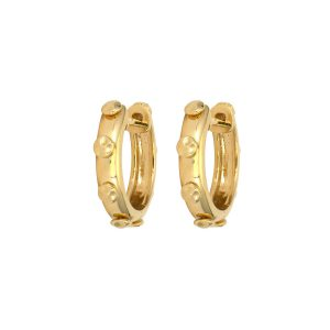 Three Stories Jewelry Classic Hammered Gold Hoops