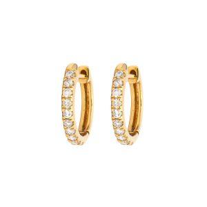 Three Stories Jewelry Classic Diamond Huggie Hoop Earrings