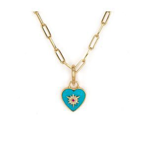 Three Stories Jewelry Trust Your Heart Tablet Charm Pendant